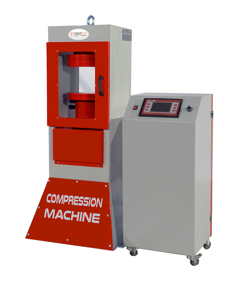 Compressive strength test machine 2000 kn capacity for cylinder and cube concrete specimens