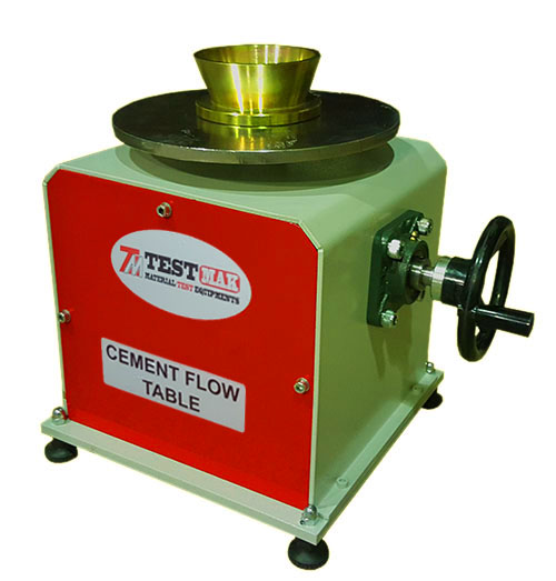 Cement flow table