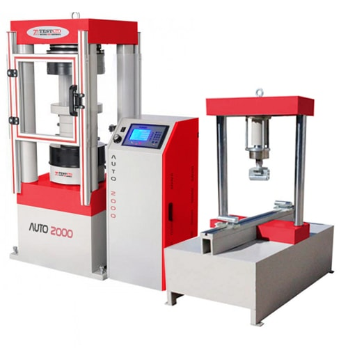 3000 kn compression testing machine with 200 kn flexural frame