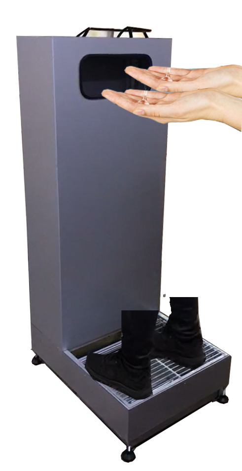 Disinfection Device for Hand and Shoes for Disinfection Stands