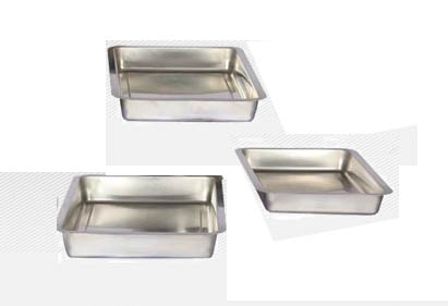 Mixing tray galvanised steel 40x40x5 cm for Mixing Trays Galvanised Steel