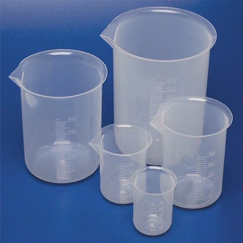 Plastic beakers 1000 ml