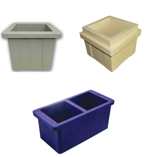 Plastic cube mold 100 mm two unit