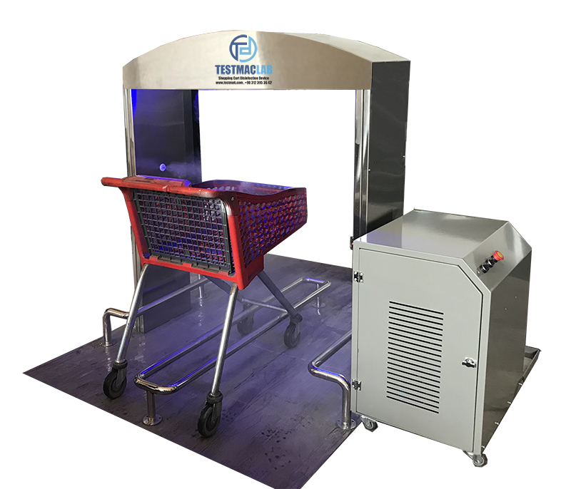 shopping cart disinfection system